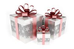 Boîte-cadeau lumineux d'isolement sur le fond blanc Photo libre de droits