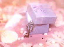 Boîte-cadeau magique Photographie stock libre de droits