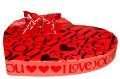 Boîte-cadeau noir et rouge Photos stock