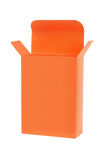 Boîte-cadeau orange Photographie stock