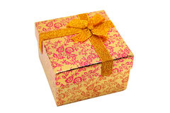 Boîte-cadeau orange Photo stock