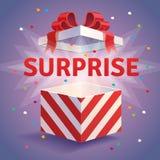 Boîte-cadeau ouvert de surprise illustration de vecteur