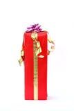 Boîte-cadeau rouge Photos stock