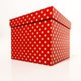 Boîte-cadeau rouge Photos libres de droits
