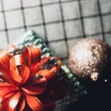 Boîte-cadeau vert Photographie stock
