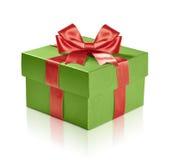 Boîte-cadeau verte Photographie stock libre de droits