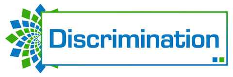 Boîte circulaire vert-bleu de discrimination Images stock
