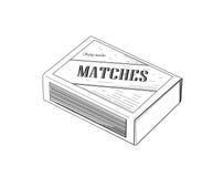 Boîte d'allumettes - illustration de vecteur illustration de vecteur