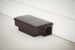 Boîte d'amorce de rat sur le plancher blanc Photo stock