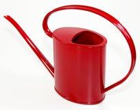 Boîte d'arrosage rouge Photographie stock libre de droits