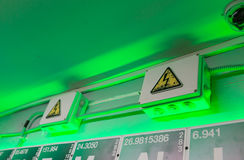 Boîte d'avertissement de l'électricité Image stock