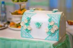 Boîte d'Azure Wedding Image stock