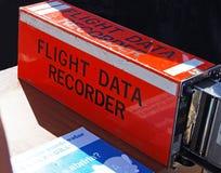 Boîte d'enregistreur des données de vol Image stock
