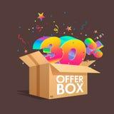 Boîte d'offre avec des remises de specials Image stock