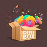 Boîte d'offre avec des remises de specials Photos libres de droits
