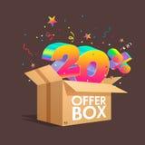 Boîte d'offre avec des remises de specials Photo stock