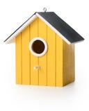 Boîte d'oiseau de Yelolow Photos stock