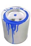 Boîte d'une peinture bleue. Image libre de droits