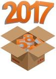 boîte de 2017 ans illustration stock