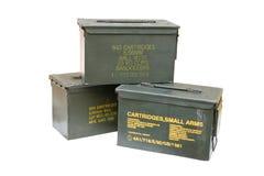 Boîte de balle en métal Photographie stock