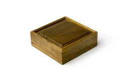 Boîte de bijou bordée or de nanmu Photographie stock