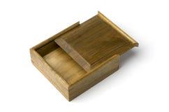 Boîte de bijou bordée or de nanmu Images stock