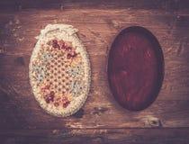 Boîte de bijoux faite main Photo stock