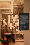 Boîte de boules de billard, de compagnie de boule de billard d'Albany, d'Albany, de New York, de 1930-40, d'institut de l'histoir Photos stock