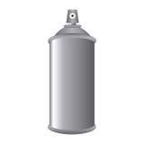 Boîte de bouteille de Gray Aerosol Spray Metal 3D Photographie stock libre de droits