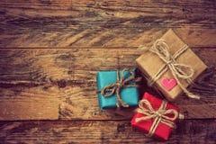 Boîte de cadeau trois Image stock