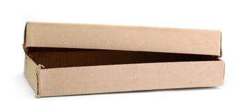 Boîte de carton d'isolement sur le blanc images stock