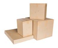 Boîte de carton d'isolement sur le blanc Image libre de droits