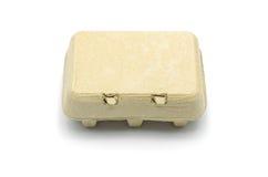 Boîte de carton pour des oeufs d'isolement Photo stock