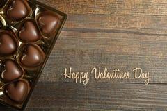 Boîte de chocolats, jour du ` s de Valentine photo stock