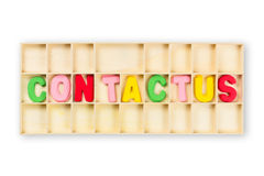 Boîte de contact Image stock