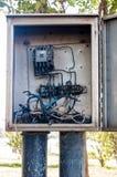 Boîte de contrôle électrique Images stock