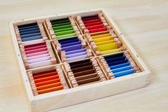 Boîte de couleur de Montessori 3 photos stock