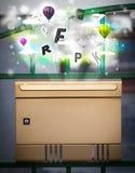 Boîte de courrier avec les lettres colorées illustration libre de droits