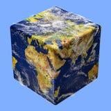 Boîte de cube en terre Photos stock