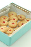 Boîte de des biscuits de beurre Image libre de droits