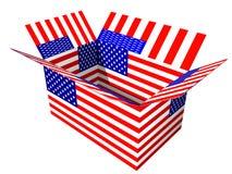 Boîte de drapeau des Etats-Unis image stock