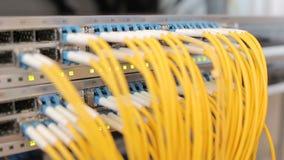 Boîte de fibre optique avec les fils jaunes clips vidéos