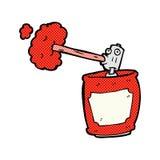 boîte de jet comique de bande dessinée Image libre de droits