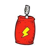 boîte de jet comique de bande dessinée Photo libre de droits