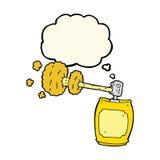 boîte de jet de bande dessinée avec la bulle de pensée Images libres de droits