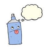 boîte de jet de bande dessinée avec la bulle de pensée Image stock