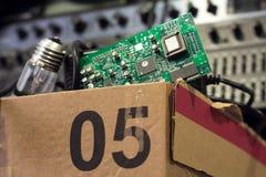 Boîte de l'électronique Photographie stock