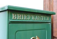 Boîte de lettre allemande images stock