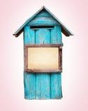 boîte de lettre en bois avec le cadre de tableau Images libres de droits