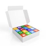 Boîte de logiciel Photos stock